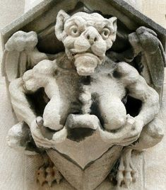 Not such a successful blind date ! ( You& feel a right tit for going ) wel. Gremlins, Dragons, Gothic Gargoyles, Architectural Sculpture, Angels And Demons, Romanesque, Green Man, Stone Carving, Statues