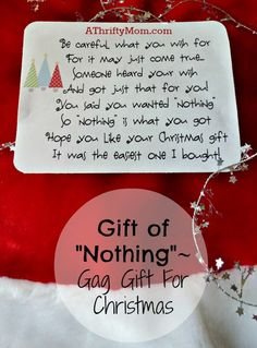Gift of nothing~ Chr