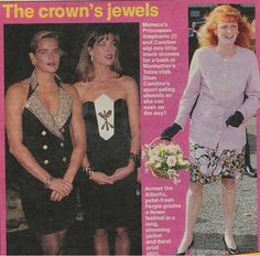 Carlonina e Stefania di Monaco - Sarah d'Inghilterra negli anni 90