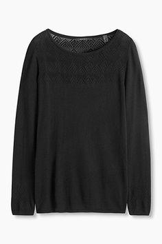 Esprit / Fijngebreide trui met ajouraccenten