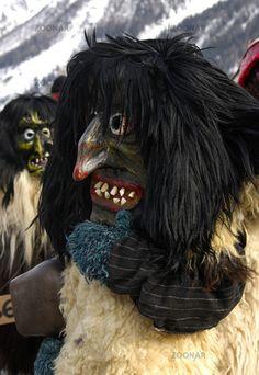 Tschäggätä, Lötschentaler Maske. Schweiz