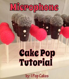 Pint Sized Baker: Microphone Cake Pop Tutorial - from iPopCakes