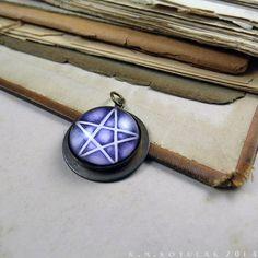 Pentagram  Handmade Brass Talisman by Hibernacula on Etsy