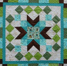 Center of quilt by Freemotion by the River tutorial