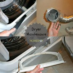Deep clean your dryer at least once a year to prevent fires and improve drying efficiency