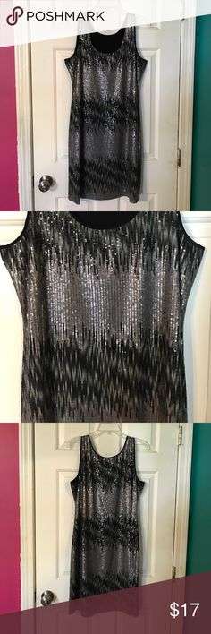 Black and gray sequin dress Black and gray sequin dress lost tag Dresses Midi
