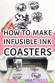 Here's how to draw with Cricut using Infusible Ink Pens! We're pressing the transfer onto Cricut Infusible Ink Coasters! Cricut Heat Transfer Vinyl, Cricut Iron On Vinyl, Patterned Heat Transfer Vinyl, Diy Vinyl Projects, Cricut Explore Projects, Vinyl On Glass, How To Use Cricut, Cricut Tutorials, Glitter Vinyl