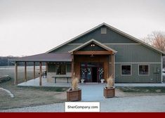 pole barn homes Gambrel Metal Building Homes and photos of Metal Building Homes Mobile Al. Tip 68292734 Gambrel Metal Building Homes Morton Building Homes, Steel Building Homes, Building A Shed, Building Design, Metal Shop Building, Building Exterior, Morton Homes, Church Building, Building Ideas