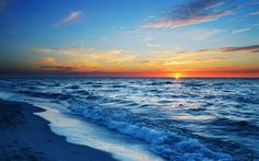 Mar del atardecer