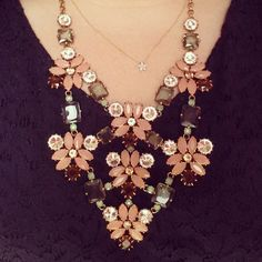 #stelladotstyle The Fleurette necklace over navy lace.