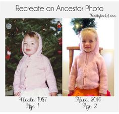 Recreate an ancestor photo. Fun way to show children more about their family history!