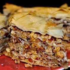 Baklava | A Greek favorite that makes everyone think you are a master chef and is sooo easy to make!! I taught a Greek friend how to make apple pie and she taught me this fabulous recipe