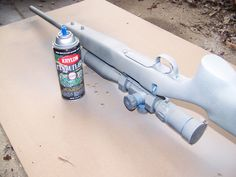 The proper way to spray paint your firearms.
