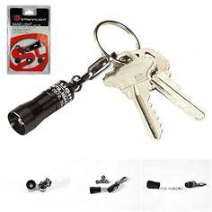 1 Set Famous 10 Lumens LED Flashlight Pocket Miniature Light Key Chain Color Black with Batteries >>> You can get more details by clicking on the image.