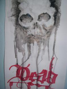 Nanquin marcador arte em papel.