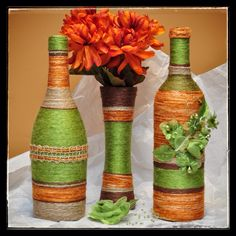 Green, Orange and Brown Set