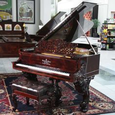 """Stunning French Baroque Ormolu Style Parlor Grand Piano By <span class=""""il"""">Erard</span> of Paris, equipped with Pianomation player system allowing it to play by itself if desired."""