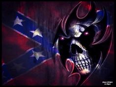 3D Skull Wallpaper | Rebel Skull - Skull, South, Southern, Rebel Skull, Confederate Flag