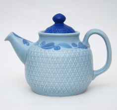 Pasific - Stavangerflint Stavanger, Chocolate Pots, Teapots, Tea Set, Shades Of Blue, Tea Time, Norway, Scandinavian, Tea Cups