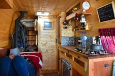 Who knew you could fit an entire kitchen in a campervan conversion! Neat DIY project that turned out amazing! One of the best van living spaces I've seen.