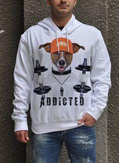 fitness addicted t-shirt, sport motivation t-shirt, anishar t-shirt, eugoria t-shirt, funny fitness dog t-shirt