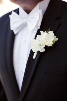 wedding boutonniere; photo: Sarah Kate