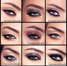 Same eye , different make up by Lebanese make up artist Bassam Fattouh