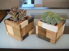 Wood Planter, flower pot, multi-colored stains, cedar wood, holds 4 inch clay pots, Custom Sizes available