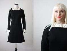 1960s satin bow shift dress by 1919vintage on Etsy, $65.00
