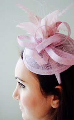 68270b5fcdb29 Mauve Pink Mini Fascinator Arianna Mini Mauve Pink Mesh Blush Pink  Fascinator