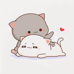Cute Anime Cat, Cute Bunny Cartoon, Cute Cartoon Pictures, Cute Cat Gif, Cute Cats, Cute Bear Drawings, Cute Animal Drawings Kawaii, Cute Cartoon Drawings, Cute Love Pictures