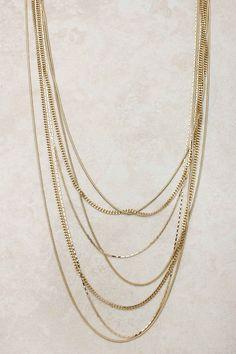 Gold Veil Necklace