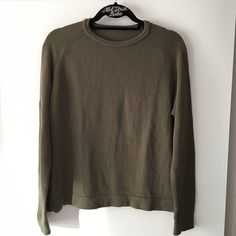 "NWOT olive alber sweater 23"" in length, it's same style as model pic but different material Brandy Melville Sweaters Crew & Scoop Necks"