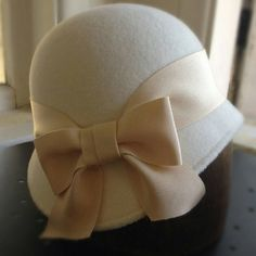 Miss Fisher Phyrne hat winter white cloche Once Upon A by RanaHats