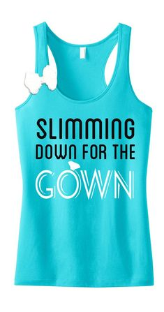 0762440e37327 SLIMMING DOWN for the GOWN Workout Tank Top with Bow    Teal Fitted