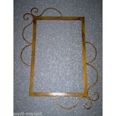 Wrought Iron Frame design for Mirror or Photo. Customize Realizations. 845