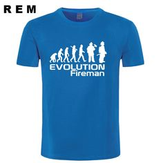 2663a09937e Men s Cotton O Neck T-shirt Evolution Of A Fireman Firefighter Tag a friend  who