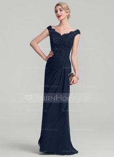 eea93c77ad17f9   189.00  A-Line Princess Off-the-Shoulder Floor-Length Chiffon Lace Mother  of the Bride Dress With Beading Sequins Cascading Ruffles (008107675)