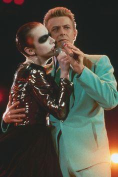Annie Lennox AND David Bowie (faint)