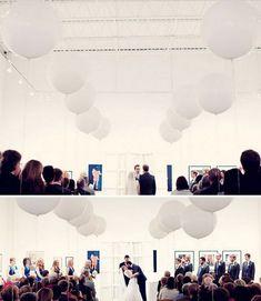 Wedding Balloons? :  wedding ceremony decor ... Then can use as centerpieces?
