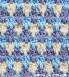 Interlacements - Crochet Stitches - Free pattern