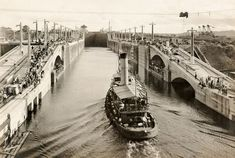 Panama Canal Fact: Of the roughly 14,000 ships that transit the Panama Canal each year, more than half have beams in excess of a hundred feet and can barely squeeze through the old locks, which can accommodate ships up to 106 feet wide. The Titanic, by comparison, had a relatively svelte 92-foot beam.