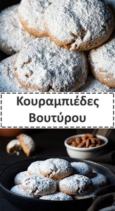 Loaf Recipes, Greek Recipes, Cookie Recipes, Snow Cookies, Snowball Cookies, Sweet Loaf Recipe, Roasted Almonds, Confectioners Sugar, Christmas Baking