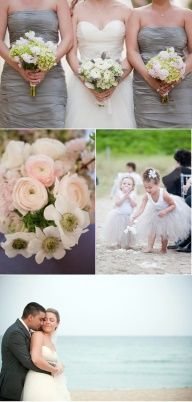 Orange county wedding photography.... Love the white and touch of green bouquets