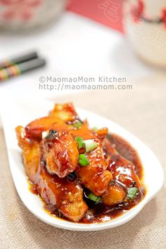 【Chicken strips in sweet, sour and spicy sauce】  by MaomaoMom  This tender chicken strips in sweet, sour and spicy sauce is must to try dish, you will like it too.