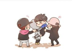 Got7 Fanart, Memes, Cute Couples, Chibi, Bts, Fan Art, Kpop, Babies, Cartoon