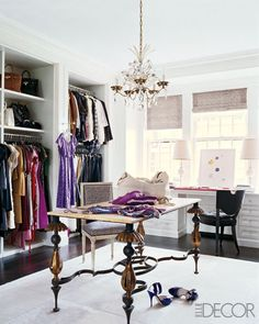 Nate Berkus / William Waldron / Elle Decor {eclectic traditional modern dressing room}