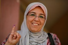 """Very happy to be living in a democracy. I voted for Amr Moussa."" - Randa Mofran, 49"
