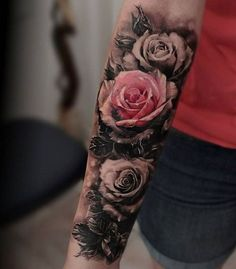As one of the most admired flowers, roses of different species and colors have long been favorite subjects for artists in paintings, illustrations. Rose tattoos