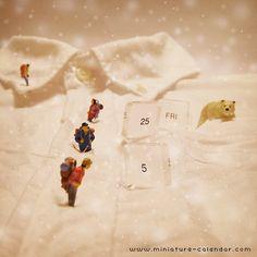 miniature calendar 5.25 -Snow mountain-  #miniature